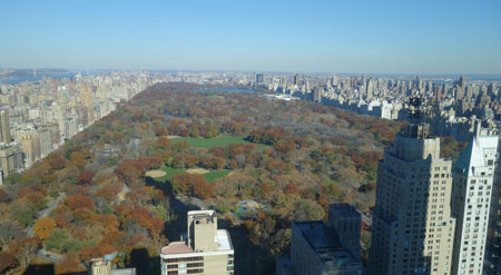 View of Central Park from the offices of Vornado Realty Trust