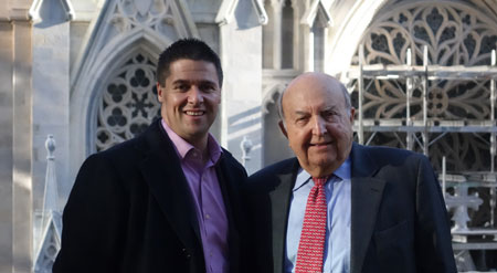 CTBUH Executive Director Antony Wood (left) meets with Charles DeBenedittis, Tishman Speyer
