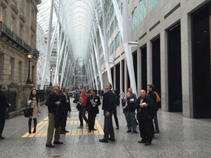 Attendees are mesmerized by the galleria at Brookfield Place.