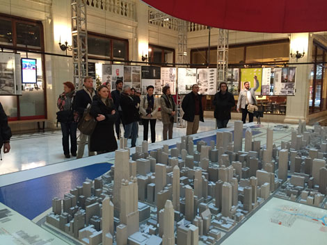 The Chicago Tour attendees gathered at the Chicago Architecture Foundation (CAF) headquarters.