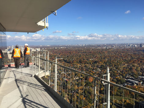 The view during the One Bloor East tour.