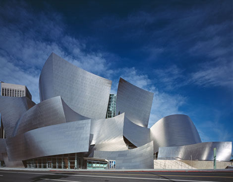 Attendees visited the Walt Disney Concert Hall by Frank Gehry.